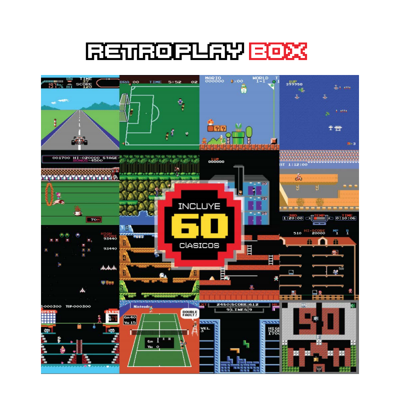 Family Game Retrobox Level Up 60 Juegos 2 Joystick Gtia
