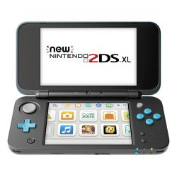 New Nintendo 2ds Xl Negro Turquesa No 3ds + Garantia Oficial