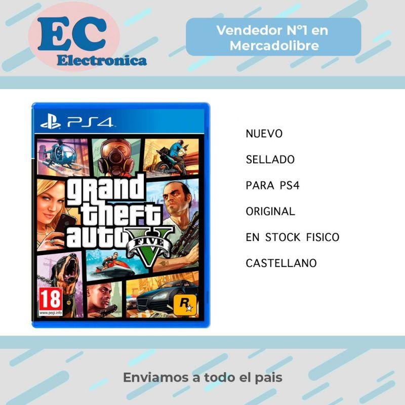 Juego Gta 5 V Ps4 Nuevo Original Fisico Sellado Rockstar
