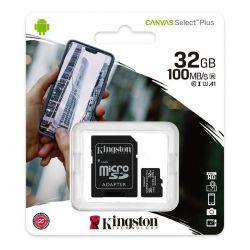 Microsd Kingston 32gb Clase 10 100mb Uhs-i Canvas Select Plus