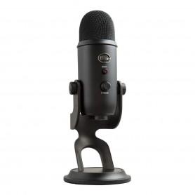Microfono Condenser Yeti Usb Streaming Profesional Gaming - Negro