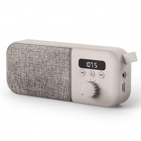 Radio Digital Energy Sistem Recargable Memorias Parlante 3w - Gris