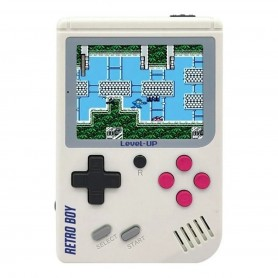 Consola Portatil 8 Bits Retroboy Family Super Mario 168 En 1 - Blanco