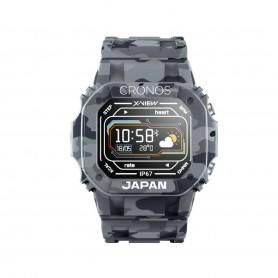 Reloj Smartwatch Cronos Japan Pulsaciones Oxigeno Bluetooth - Camuflado