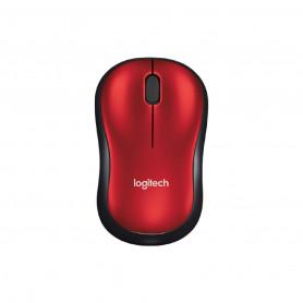 Mouse Inalambrico Logitech M185 Optico Original - Rojo