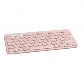 Teclado Bluetooth Logitech K380 Español iPad Tablet Windows - Rosa