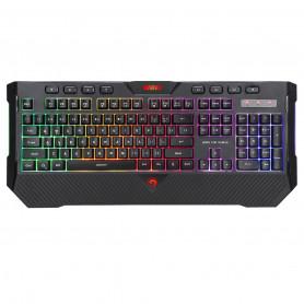 Teclado Gaming Marvo K656 Arcoiris Rainbow Luces Cable Usb