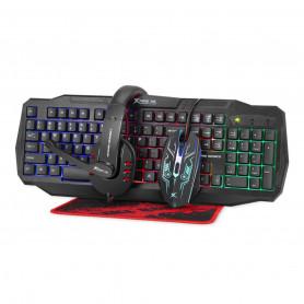 Super Combo Gamer Teclado Mouse Mousepad Auricular Xtrike-me