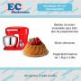 Batidora De Pie Powy 2 Kitchen Planetaria Bowl 1.5kg 450w - Roja